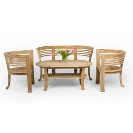 Set of garden furniture 4-piece, wood Teak