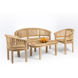 Teak garden furniture set Rongo banana, teak