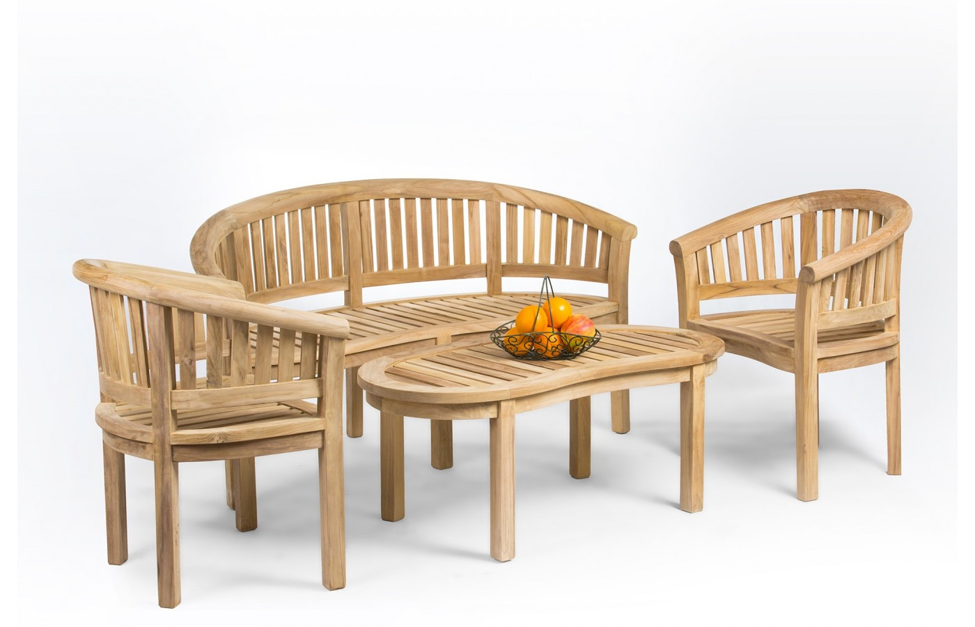 Teak Garden Table >> Teak Garden Furniture Set Rongo Banana Teak