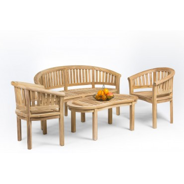 Teak garden furniture set Rongo banana, teak