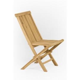 Folding garden chair made of teak wood