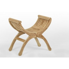 Stool, footstool made of teak wood