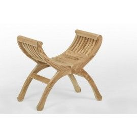 Stool, footstool made of teak wood