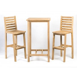 Garden and catering set Anat 2 hokers, teak