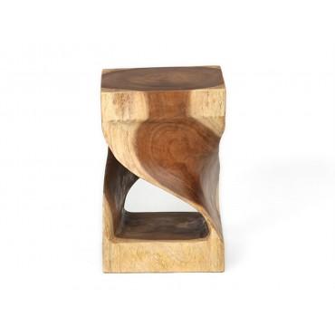 Suar square wood stool