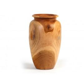 Suar wood vase
