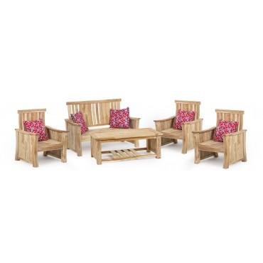 Rosa - a teak wood set of...